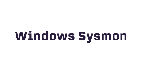 Windows Sysmon